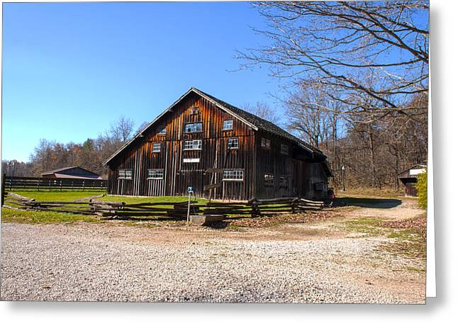 Barn At Billie Creek Village Greeting Card by Thomas Sellberg