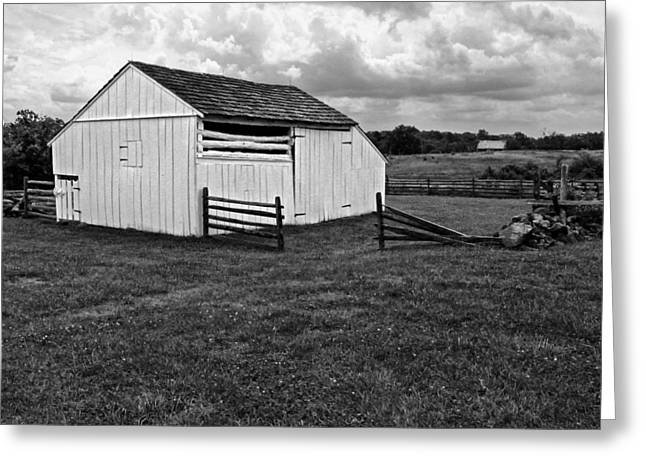 Battlefield Site Greeting Cards - Barn at Gettysburg Greeting Card by Dave Mills