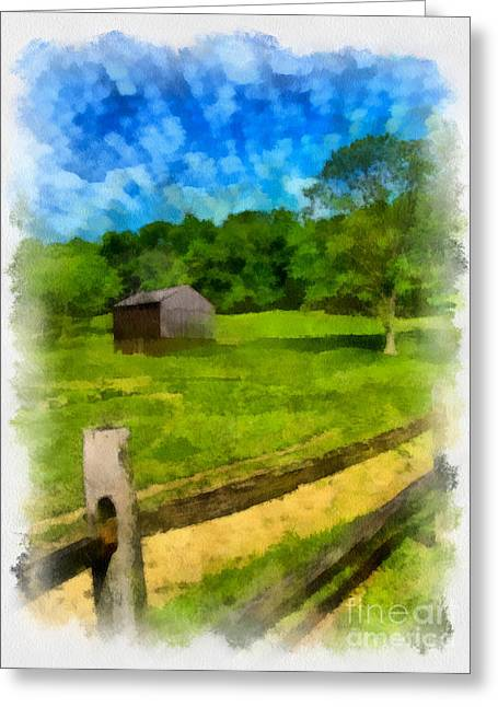 Meadow Greeting Cards - Barn at Hartwood Acres Greeting Card by Amy Cicconi