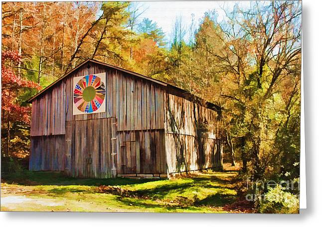 Barn At Red River Gorge Greeting Card by Lena Auxier