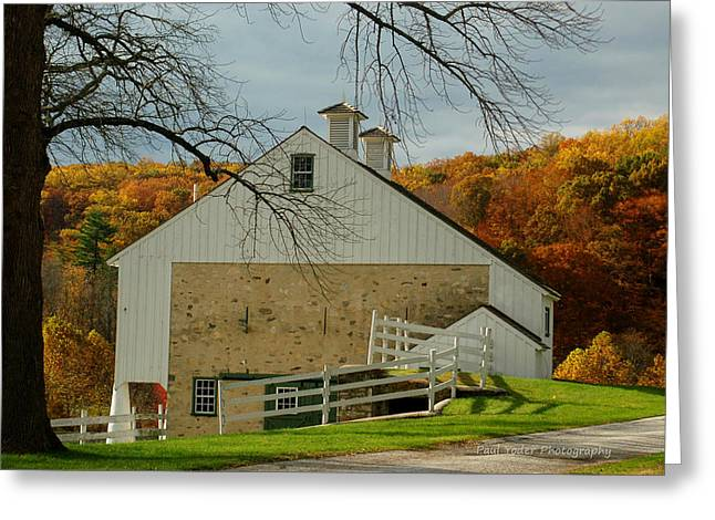 Barn Yard Greeting Cards - Barn at Valley Forge Greeting Card by Paul Yoder