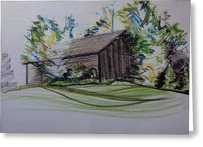 Rustic Pastels Greeting Cards - Old Barn At Wason Pond Greeting Card by Sean Connolly