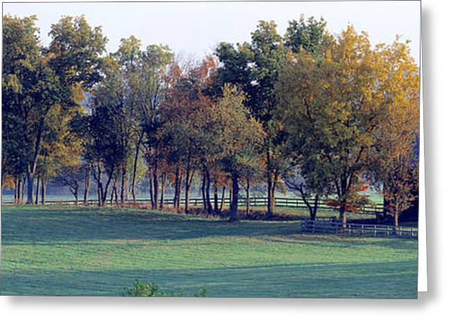 Wooden Fence Greeting Cards - Barn Baltimore County Md Usa Greeting Card by Panoramic Images