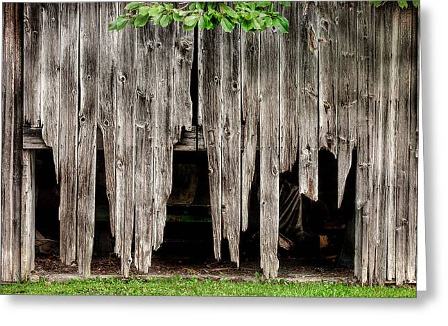 Barn Boards - Rustic Decor Greeting Card by Gary Heller