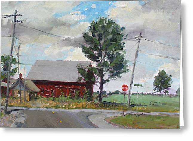 Power Paintings Greeting Cards - Barn by Lockport Rd Greeting Card by Ylli Haruni