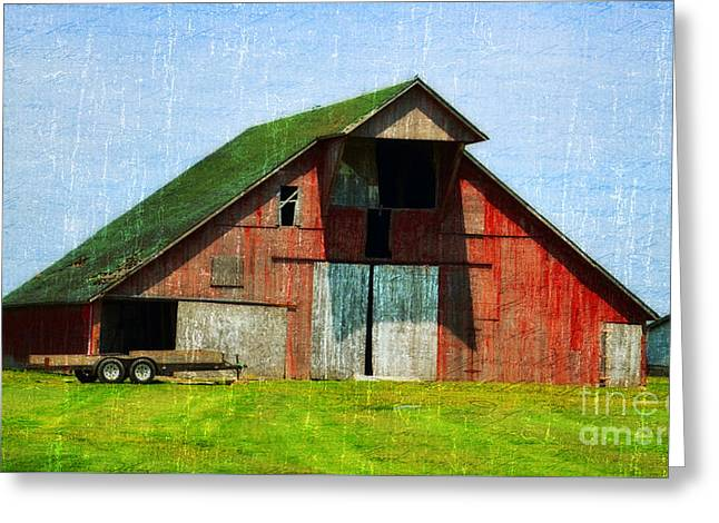 Old Barns Greeting Cards - Barn - Central Illinois - Luther Fine Art Greeting Card by Luther   Fine Art