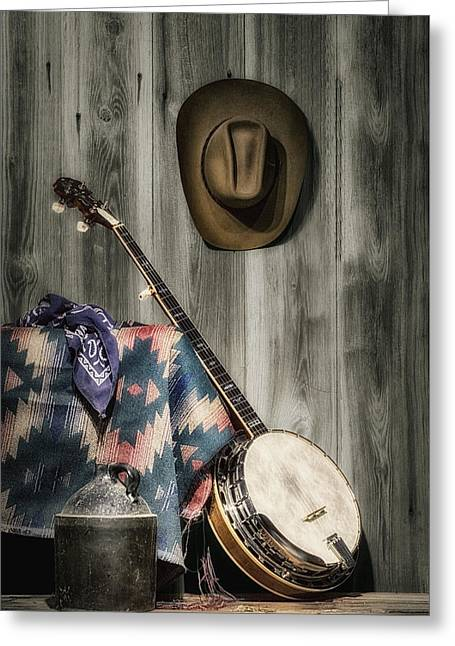 Stringed Instrument Greeting Cards - Barn Dance Hoe Down Greeting Card by Tom Mc Nemar