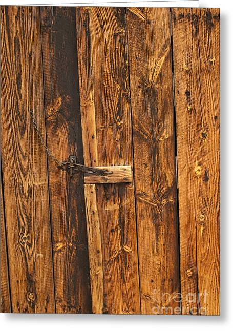 Old Barns Greeting Cards - Barn Door And Latch Greeting Card by Scott Camazine