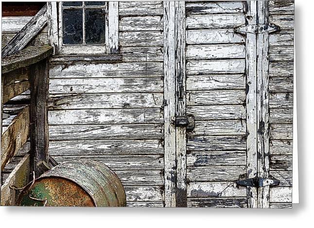 Barn Door Greeting Card by Armando Picciotto