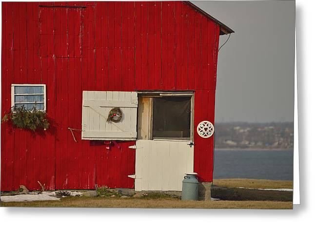 Mcintosh Farm Greeting Cards - Barn Door Greeting Card by Joshua McCullough