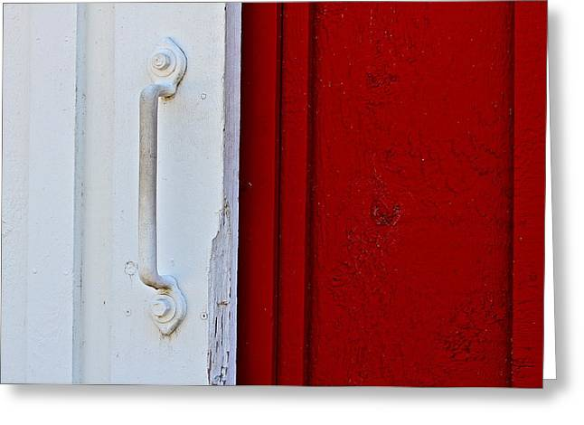 Sea Horse Greeting Cards - Barn Door Greeting Card by Michael Blesius