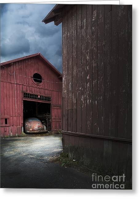 Forgotten Cars Greeting Cards - Barn Find Greeting Card by Edward Fielding