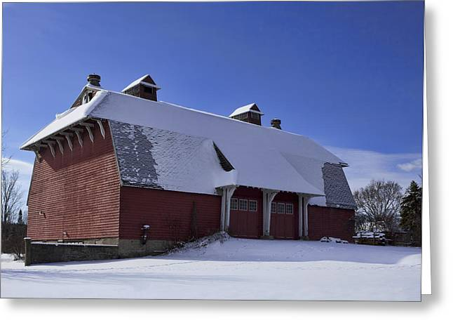 Snow Scenes Greeting Cards - Barn Find Greeting Card by Peter Chilelli