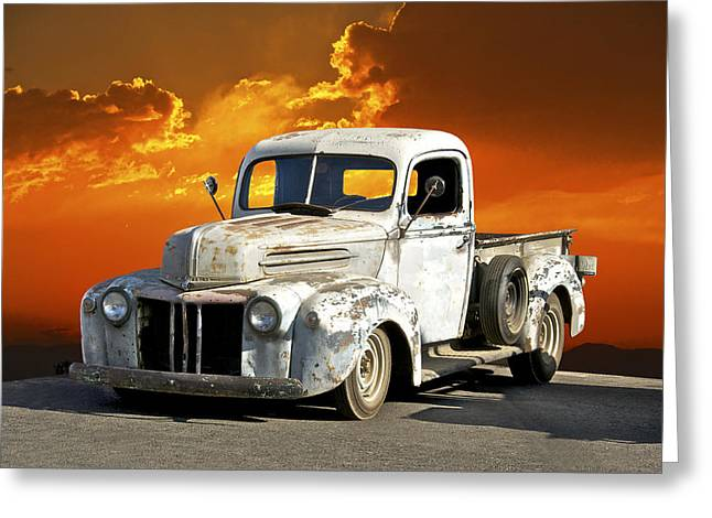Family Car Greeting Cards - Barn Fresh Ford Pick Up Greeting Card by Dave Koontz