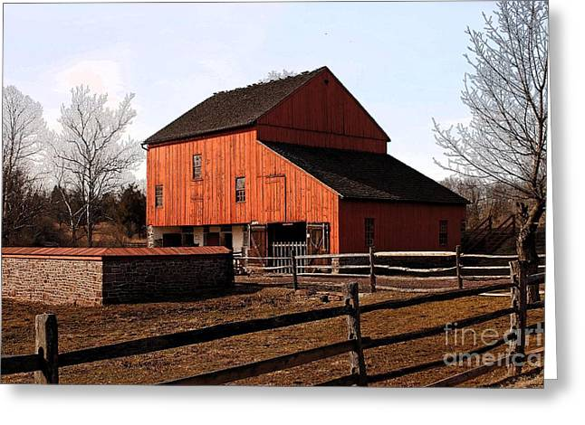 Barn Dance Greeting Cards - Barn II Greeting Card by Marcia Lee Jones