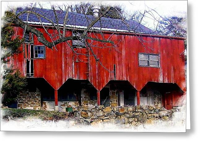 Barn Dance Greeting Cards - Barn 3 Greeting Card by Marcia Lee Jones