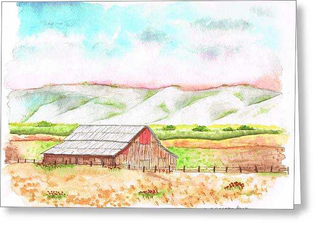 Recently Sold -  - Cambria Greeting Cards - Barn in Cambria - California Greeting Card by Carlos G Groppa