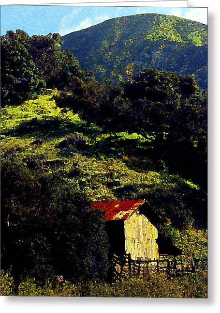 Barn Digital Greeting Cards - Barn in Grimes Canyon Greeting Card by Ron Regalado