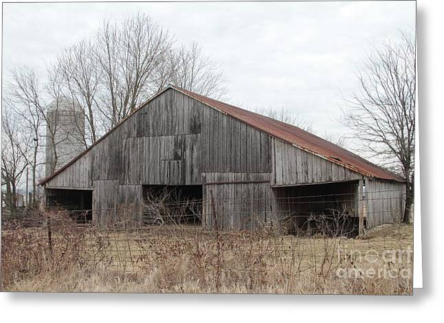 Old Barns Greeting Cards - Barn in Kentucky no 2 Greeting Card by Dwight Cook