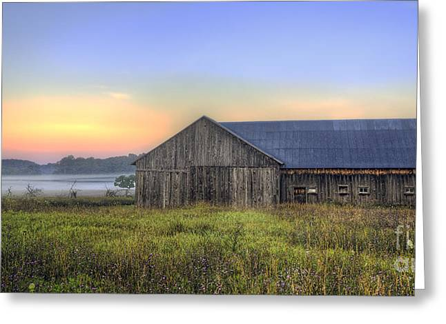 Michigan Farmhouse Greeting Cards - Barn in Northern Michigan Greeting Card by Twenty Two North Photography