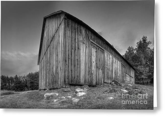 Michigan Farmhouse Greeting Cards - Barn in Port Oneida Greeting Card by Twenty Two North Photography