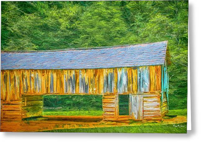 Barn In Woods Photographs Greeting Cards - Rustic - Barn - Farm - Barn in the Cove Greeting Card by Barry Jones