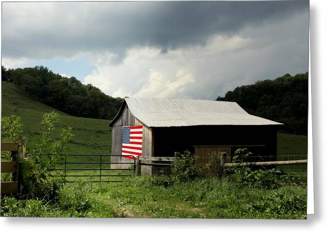 Tobacco Barns Greeting Cards - Barn in the USA Greeting Card by Karen Wiles
