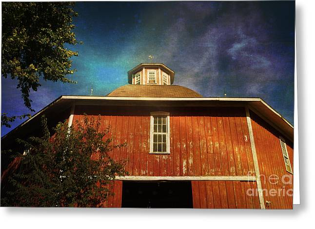 Old Barns Greeting Cards - Barn - Iowa - Classic Hexagonal 2 - Luther Fine Art Greeting Card by Luther   Fine Art