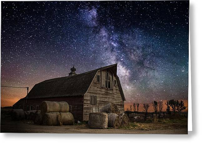 Long Exposure Greeting Cards - Barn IV Greeting Card by Aaron J Groen