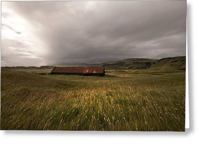 Pastureland Greeting Cards - Barn Greeting Card by Karin Haas