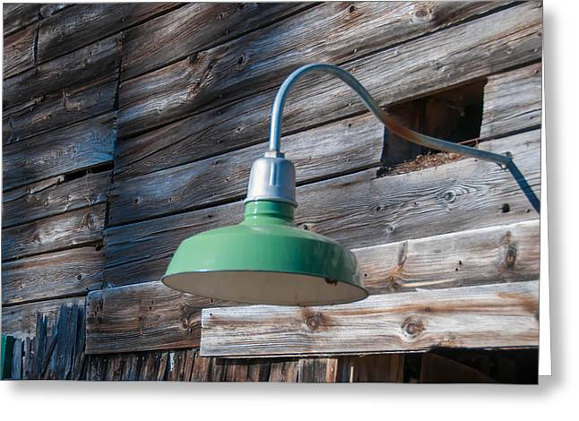 Best Sellers -  - Maine Farmhouse Greeting Cards - Barn Light Greeting Card by Guy Whiteley