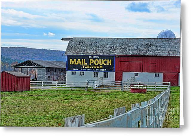 Old Country Roads Greeting Cards - Barn - Mail Pouch Tobacco Greeting Card by Paul Ward
