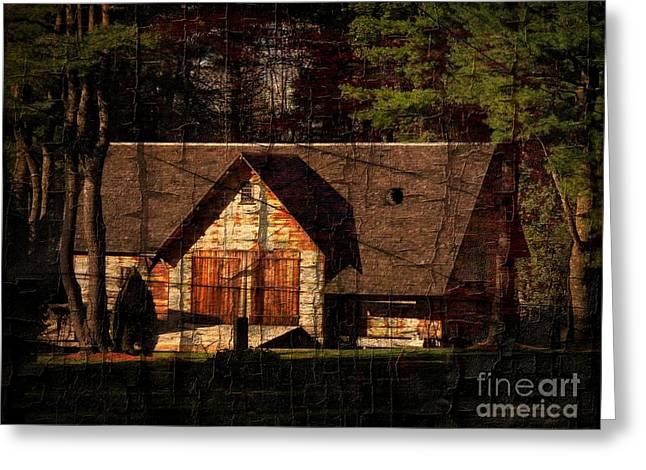 Eco-village Greeting Cards - Barn No. 6 Greeting Card by Marcia Lee Jones