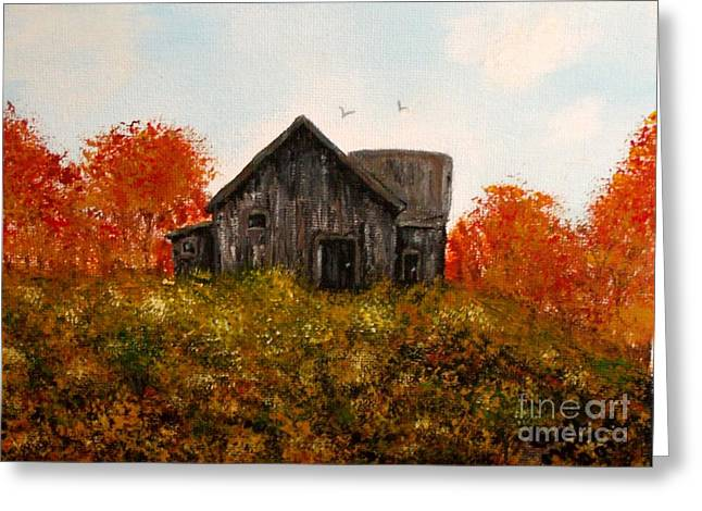 Barn Old Rusted And Deserted Greeting Card by Gail Matthews