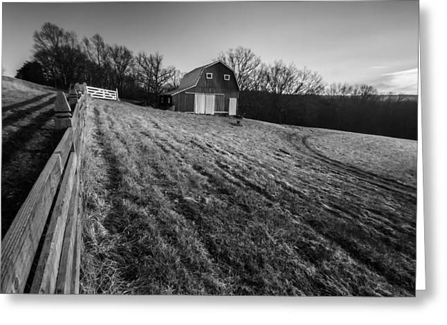Rural Indiana Photographs Greeting Cards - Barn on a hill Greeting Card by Sven Brogren