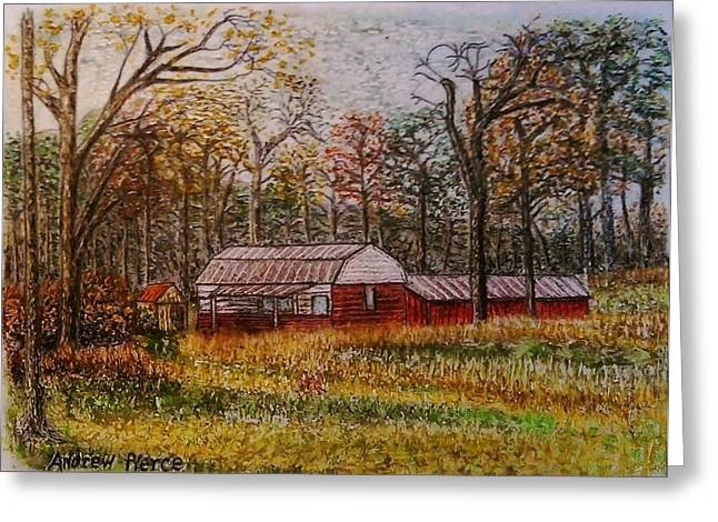 Highway Pastels Greeting Cards - Barn on Highway 16 Greeting Card by Andrew Pierce