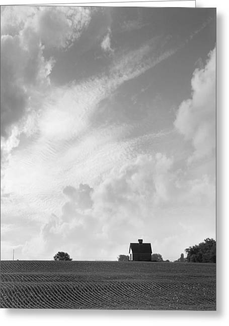 Barn Digital Art Greeting Cards - Barn on Top of the Hill 2 Greeting Card by Mike McGlothlen