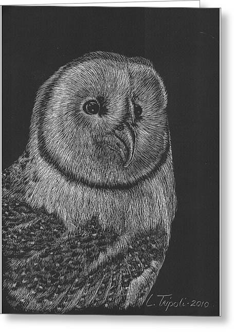 Best Sellers -  - Barn Pen And Ink Greeting Cards - Barn Owl Greeting Card by Lawrence Tripoli