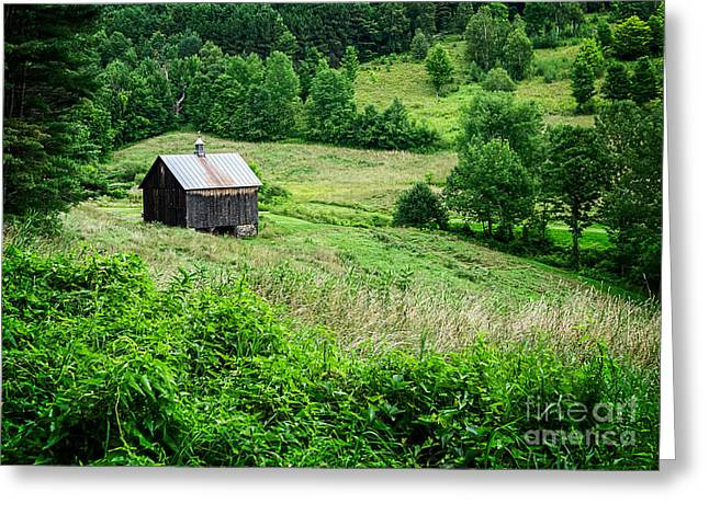 Hollow Greeting Cards - Barn Pomfret Vermont Greeting Card by Edward Fielding