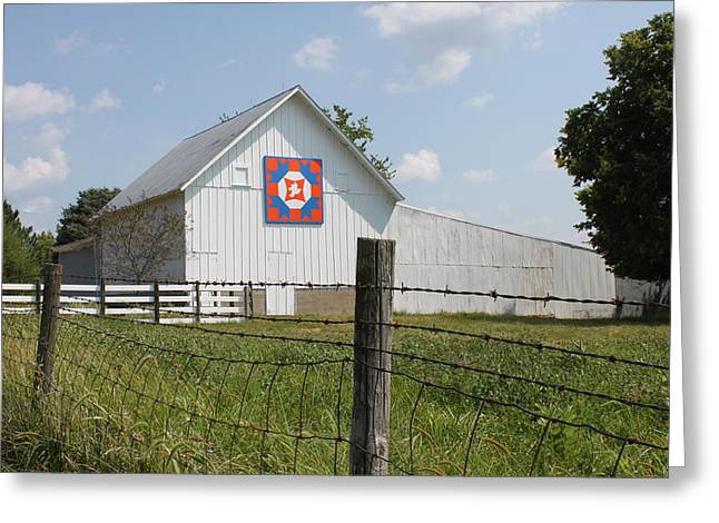 Heritage Quilts Greeting Cards - Barn Quilt Five 2013 Greeting Card by Karen Ament