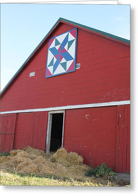 Heritage Quilts Greeting Cards - Barn Quilt Four 2013 Greeting Card by Karen Ament