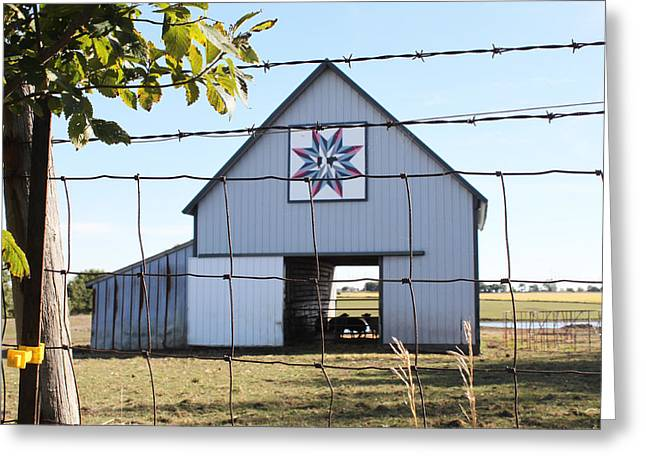 Heritage Quilts Greeting Cards - Barn Quilt  One 2013 Greeting Card by Karen Ament