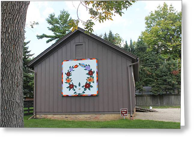 Heritage Quilts Greeting Cards - Barn Quilt One Greeting Card by Karen Ament