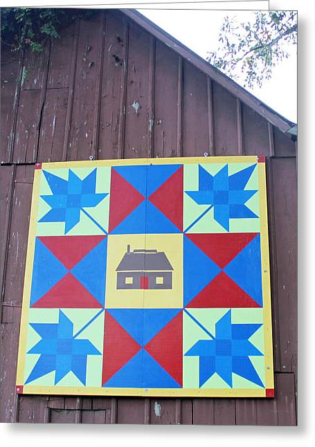 Heritage Quilts Greeting Cards - Barn Quilt Seven 2013 Greeting Card by Karen Ament