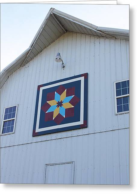 Heritage Quilts Greeting Cards - Barn Quilt Six 2013 Greeting Card by Karen Ament