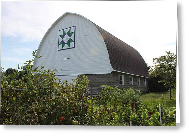 Heritage Quilts Greeting Cards - Barn Quilt Three 2013 Greeting Card by Karen Ament