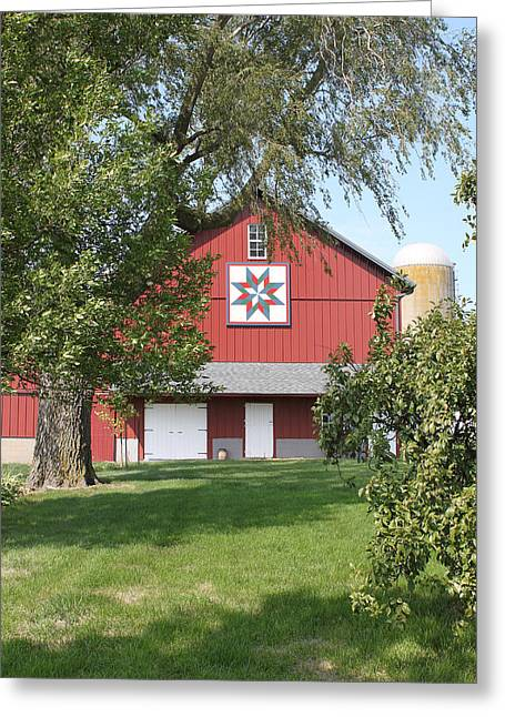 Heritage Quilts Greeting Cards - Barn Quilt Two Greeting Card by Karen Ament