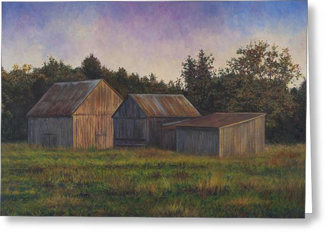 Md Paintings Greeting Cards - Barn Scene off of Rte. 6 in Dentsville MD Greeting Card by David P Zippi