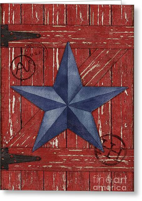 Star Barn Greeting Cards - Barn Star Vertical Greeting Card by Paul Brent