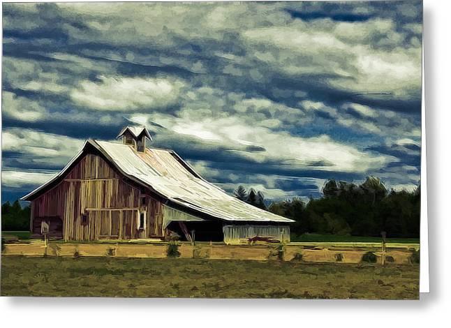 Kinkade Photographs Greeting Cards - Barn Greeting Card by Steve McKinzie